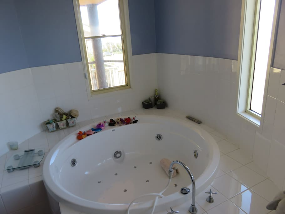 Spa in ensuite bathroom