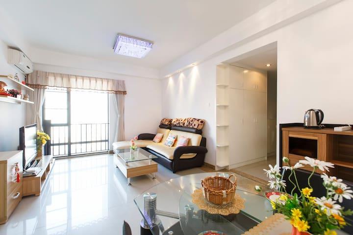 市中心太古汇地铁3号线旁,soft家居大两房 - Guangzhou - Apartment