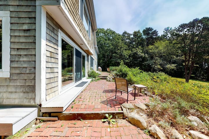 Dog-friendly home w/ Buzzards Bay views, large deck & neighborhood beach!
