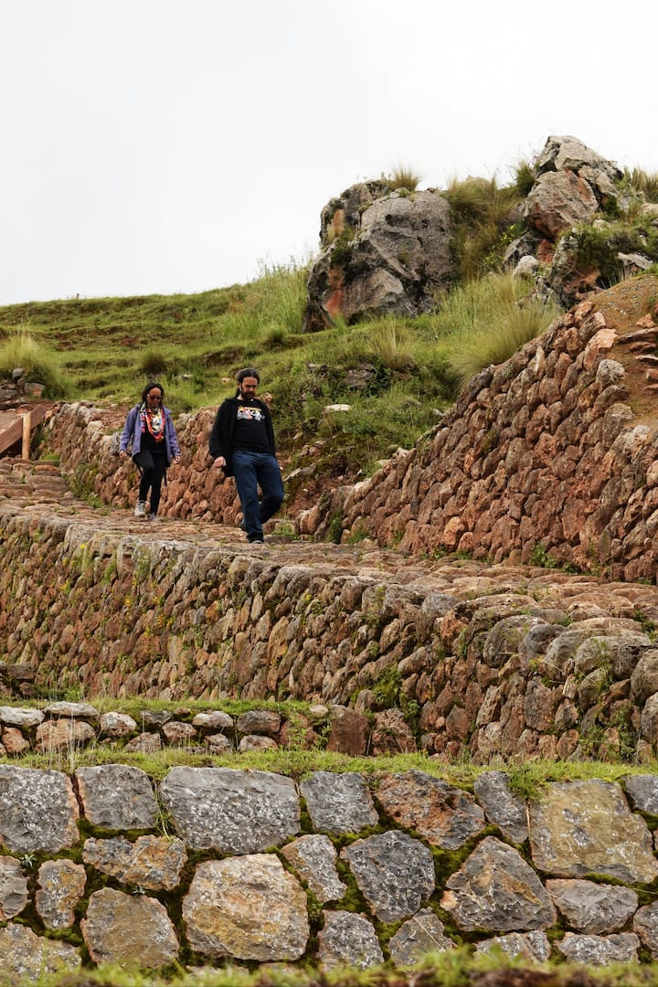 Walking down some inca stairs