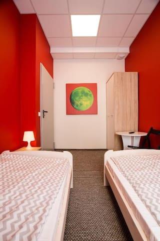 Pokój 2-os. TWIN ze wspólną łazienką Moon Hostel