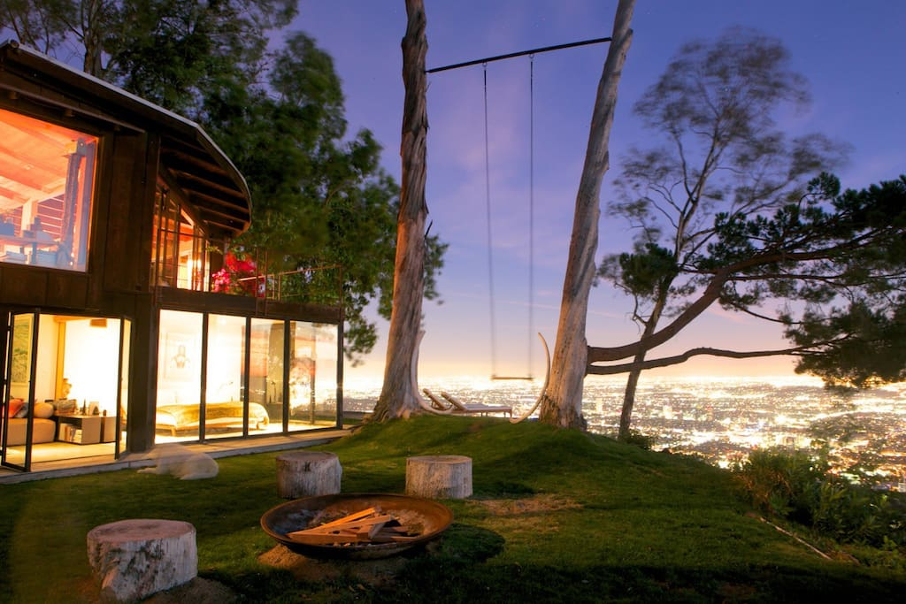 tree house with 360 views of l a h user zur miete in los angeles kalifornien vereinigte staaten. Black Bedroom Furniture Sets. Home Design Ideas
