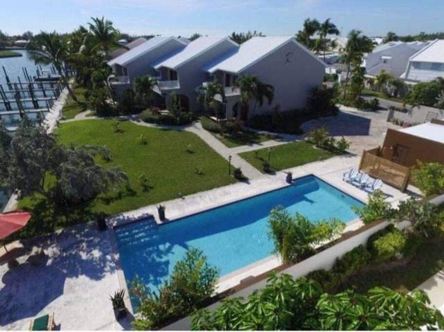Aerial Overview of Treasure Villa