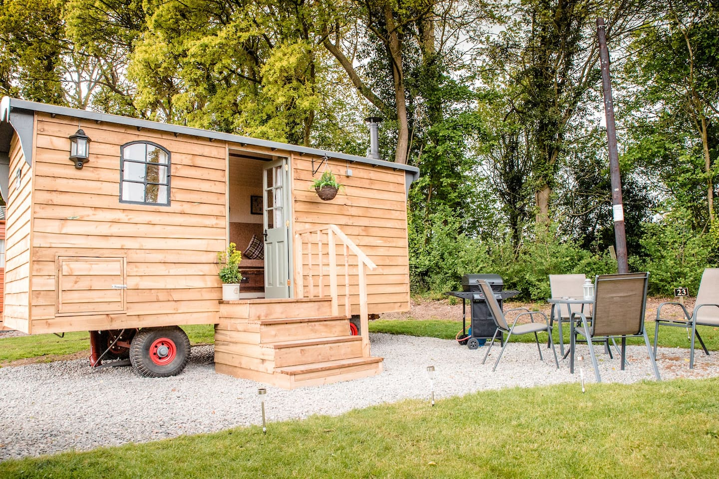 A unique experience, come and stay in our lovely shepherd's hut!