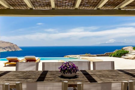 Rocky Retreat - Clifftop Villa Near Elia Beach