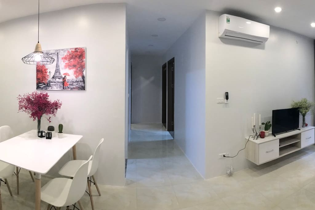 Spacious 96m2 apartment with 3 bedrooms.