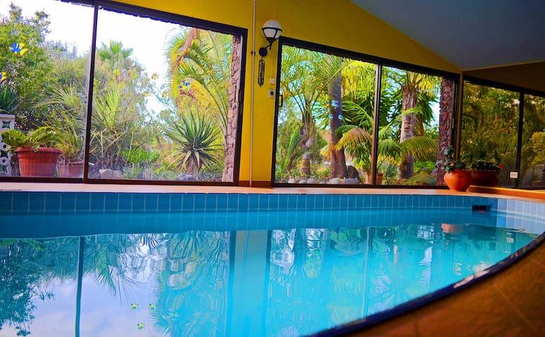 Wohnung mit Küche, Traumgarten, Innenpool, Sauna - La Matanza de Acentejo - Dům pro hosty