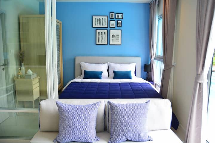 Cozy pool access bedroom at Blu Cha am - Huahin