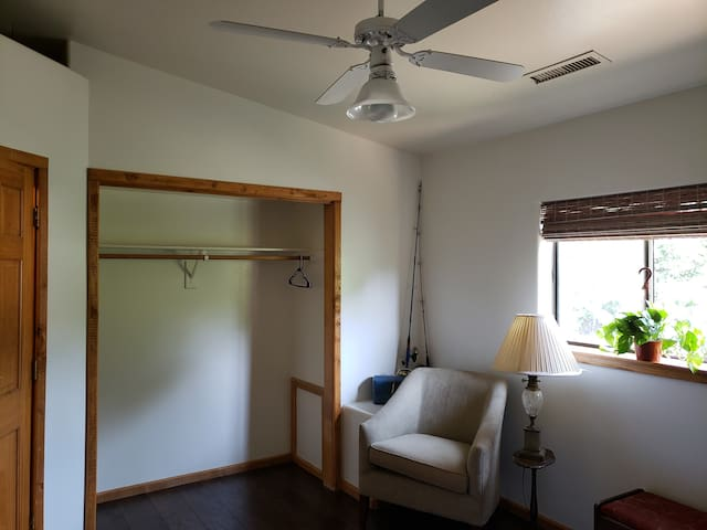 plenty of closet space and comfortable seating