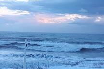 Tempête hivernal sur le golfe