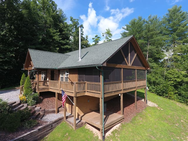 1BR, Screened Deck. View of Smoky Mtns/River @WCU