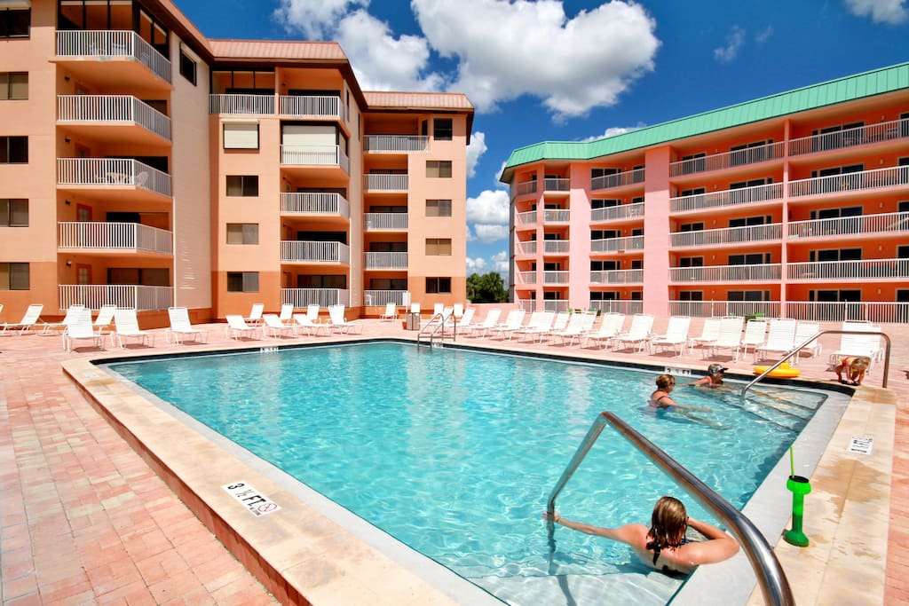 Relax next to the pool or spend some time in the spa!