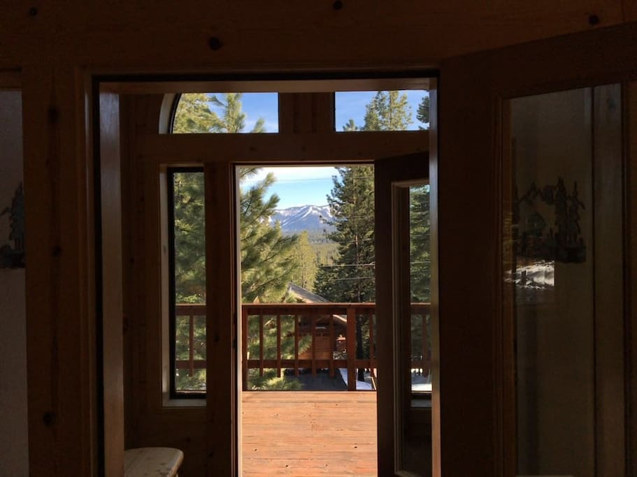 Great View off Living and dining with large deck!
