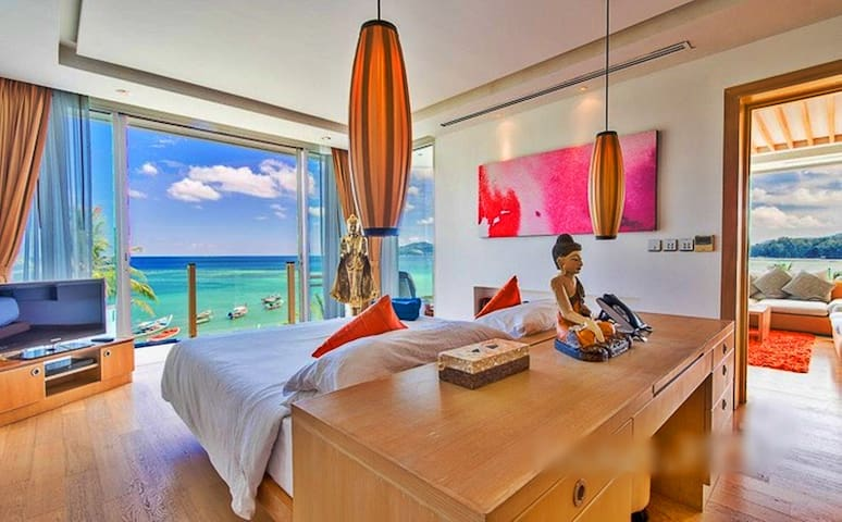 master bedroom and breathtaking views