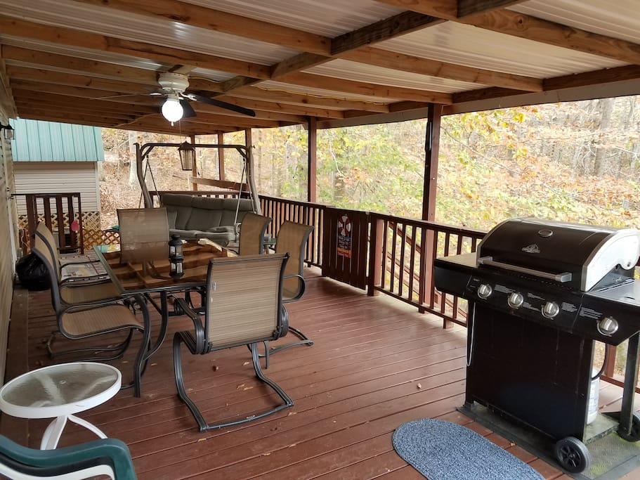 Back Deck - Table and Grill