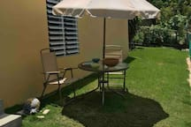Outdoor Lounge furniture seats - smoking area