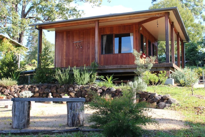 Eco-cabin in tranquil rural setting