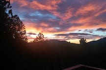 Sunrise off of the deck.