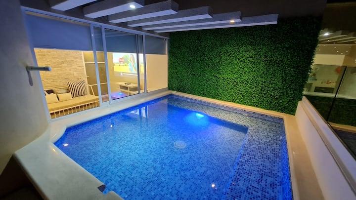 Sky garden lujo nuevo moderno cómodo privado 609
