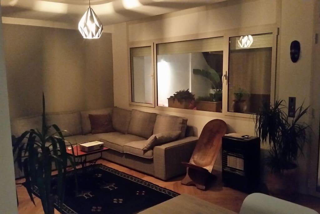 Le salon et son canapé confortable