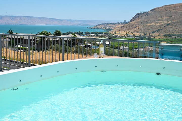 Nino Magdala-2Bdrm Suite/Jet Pool/SeaoftheGaliliee