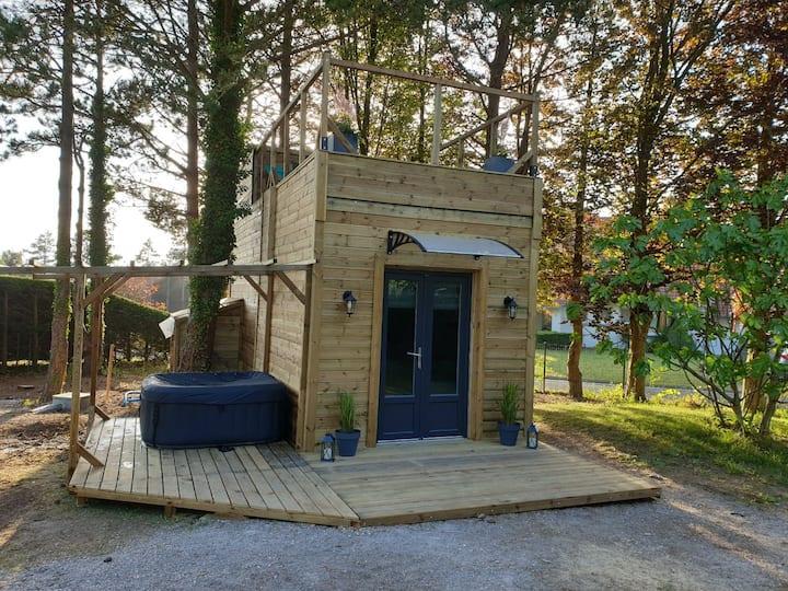 Magnifique Tiny House avec spa privatif