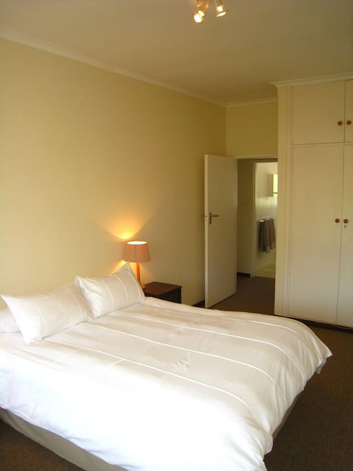 This is the main bedroom- which can either be two singles beds or a king size bed.
