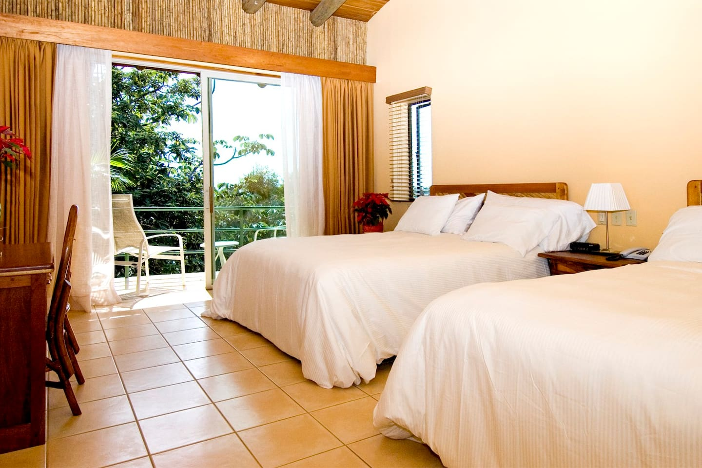 STD Room, King size or 2 queen beds.  Garden View. 4 people max Breakfast included.