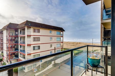 Lovely, dog-friendly retreat w/ a private balcony - just steps from the beach!