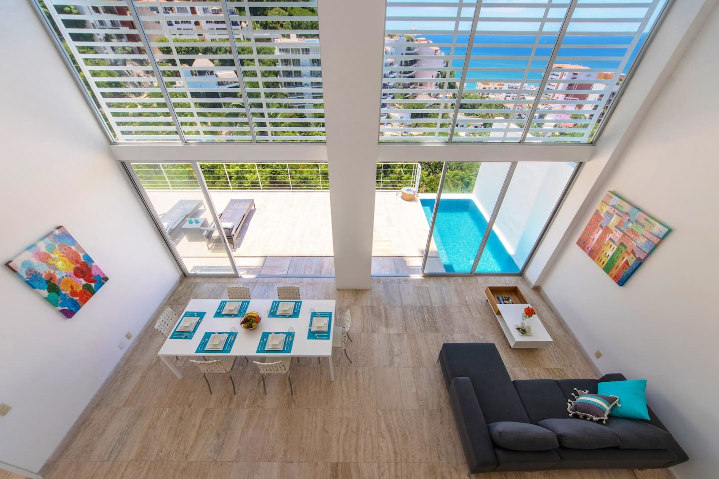 Double Height Living Space & Private Pool