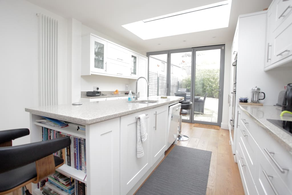 Lots of natural light floods the kitchen. Very relaxing space.