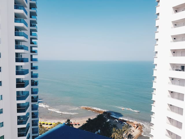 Apartment in Bocagrande with lovely view
