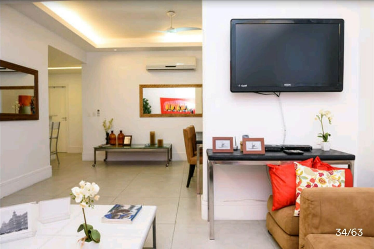 Big TV cable  wifi 30 mb,air conditioner.the flat are just 100 mt from the beach