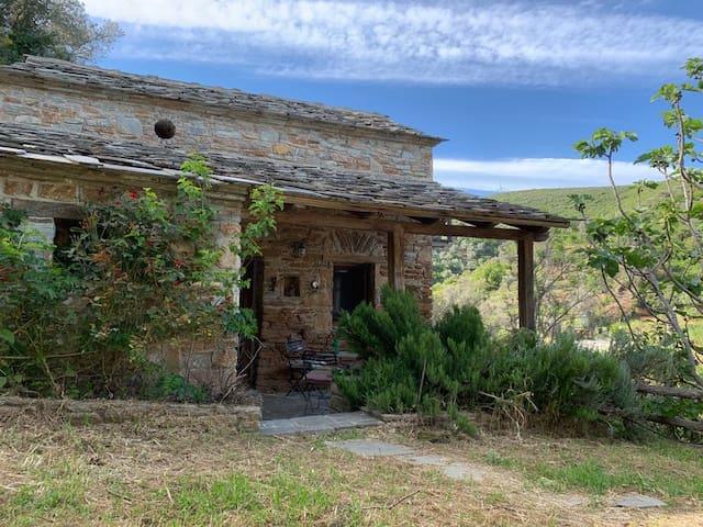 Old traditional stone house, Zarakes, Evia island