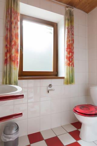 Badezimmer mit Dusche, direkt vom Schlafzimmer aus zu begehen