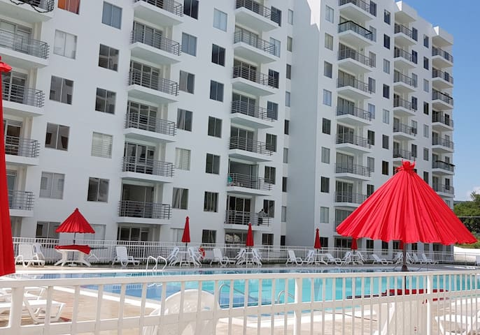 Lindo apartamento con aire acondicionado