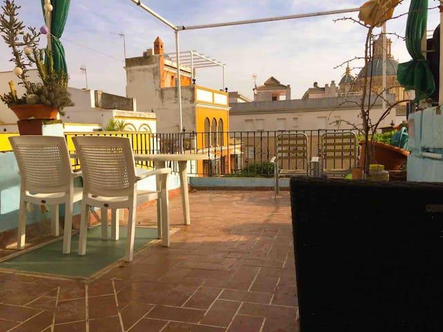 Room Sevilla center/terrace/optional parking