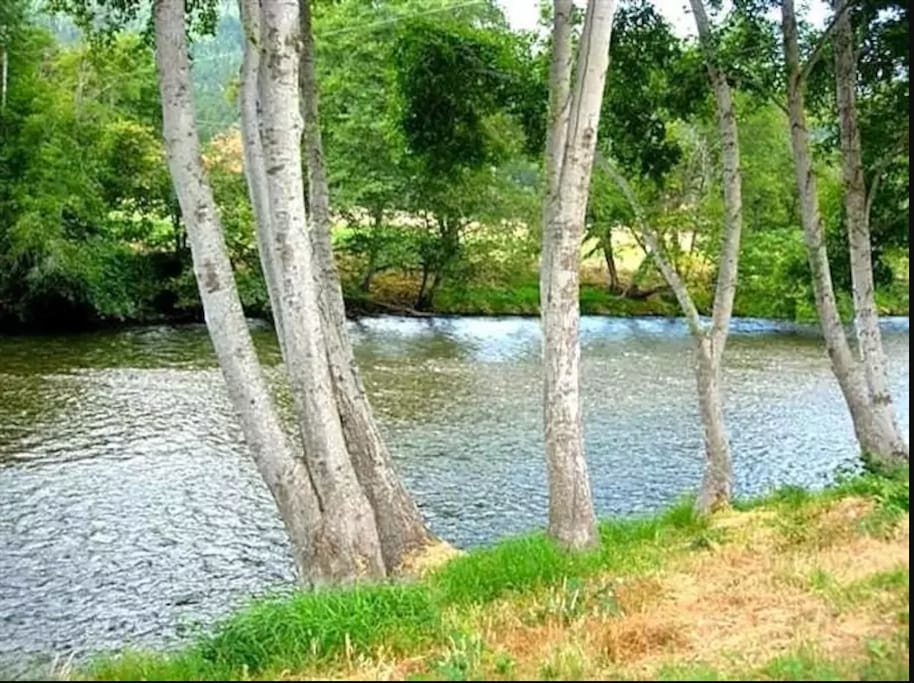 Property offers Applegate River frontage.