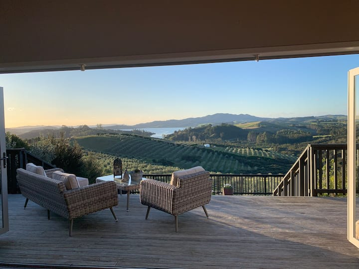 Panoramic harbour views over  private olive grove