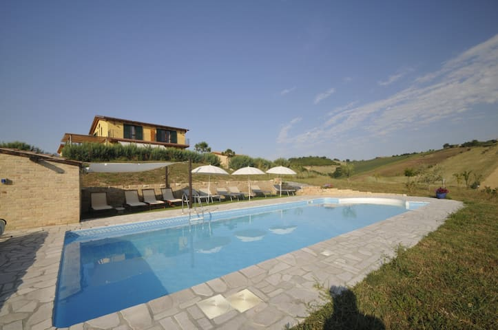 House with Pool and fantastic views Sleeps 14 +2