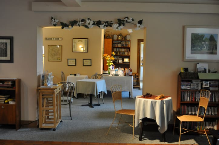 Breakfast is served in the Creamery dining room each morning