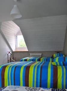 Chambre Europe,  rénovée en matériaux écologiques - Ploërmel