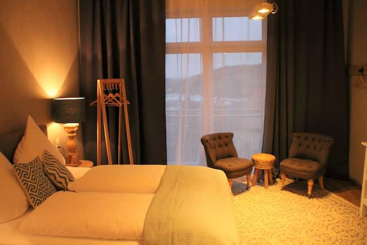 Tauberlodge (Creglingen), Doppelzimmer mit kostenfreiem WLAN