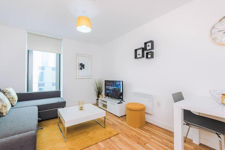 ❤STYLISH- Media City 1 bed apartment & FREE gym❤