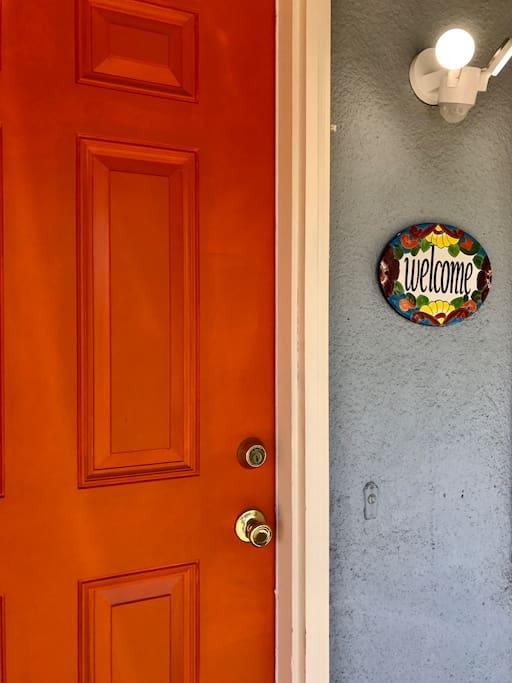 Welcome to the Orange Door