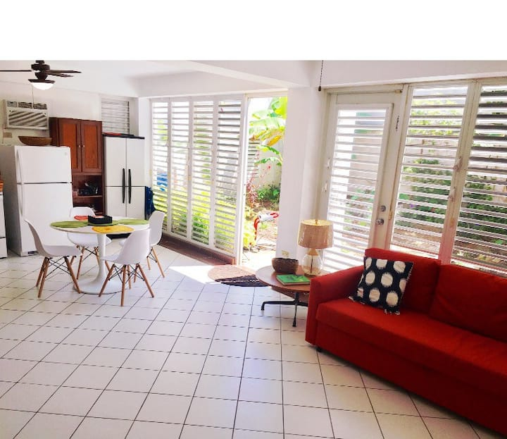 Modern Open Space Garden Apartment in Ocean Park
