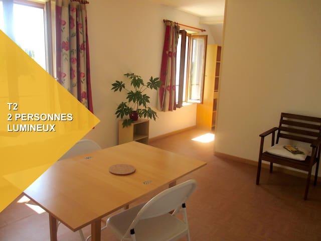 Chambre aménagée en T2 - Le Roc-Saint-André - Hus