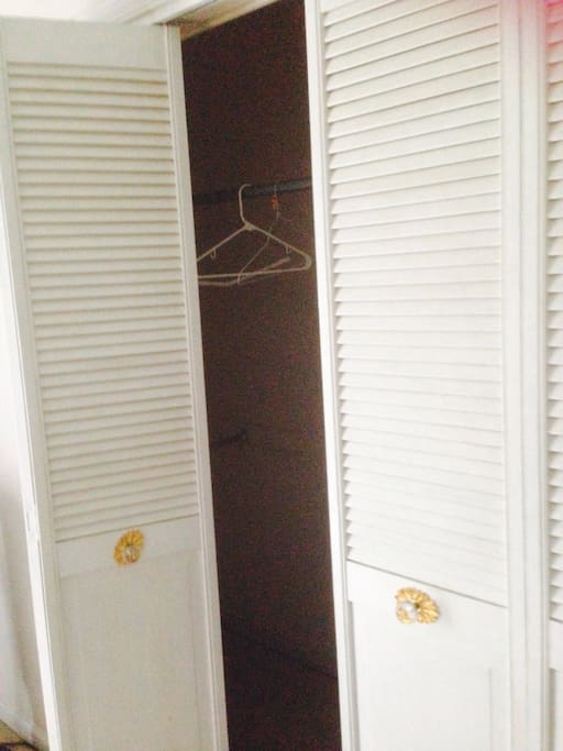 Full closet for your use! Especially helpful for extended stays.