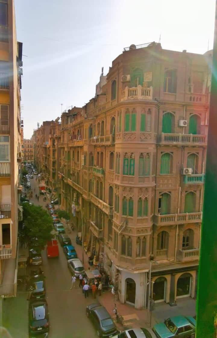 Single Room with Beautiful view in Downtown Cairo