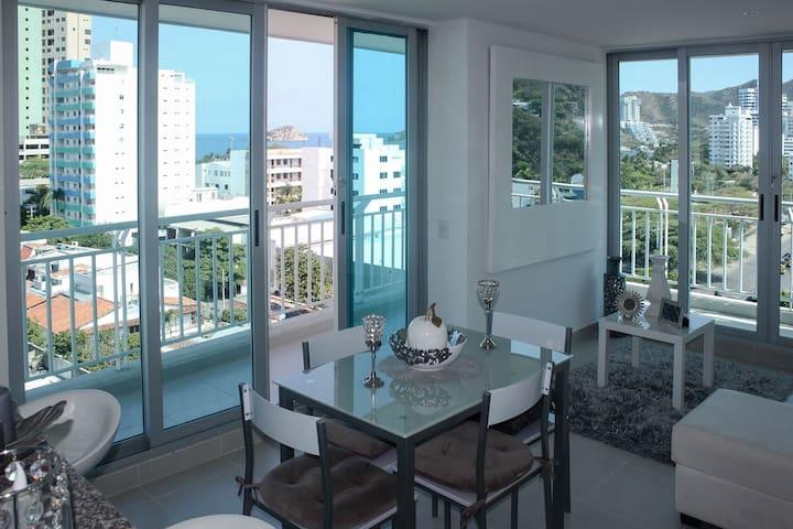 Apartamento en el Rodadero con piscina 805RES - Santa Marta